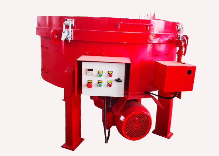 Industrial Cement Concrete Pan Mixer Low Energy Consumption Discharge Material